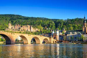 Бесплатные фото Гейдельберг,Германия,Старый мост,замок,река,горы,пейзаж