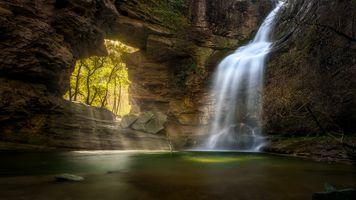 Бесплатные фото Каталония,Испания,скалы,водопад,водоём,арка,пейзаж