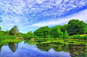 Фото бесплатно озеро, водоём, мост
