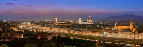 Бесплатные фото Флоренция,Италия,город,ночь,иллюминация,ночные города,панорама