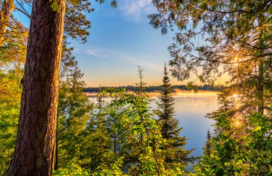 Фото бесплатно Sandwick Lake Sunrise - Scenic State Park, Minnesota, закат