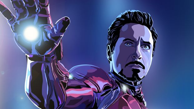 Заставки Железный Человек, супергерои, произведения искусства