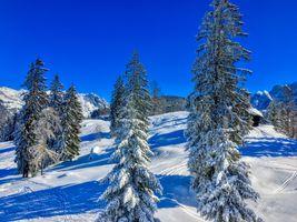 Бесплатные фото Зима в горах Кайзер возле Куфштайн,Тироль,Австрия