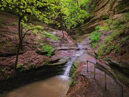 Бесплатные фото Starved Rock State Park,Illinois,USA,водопад,водоём,скалы,горы
