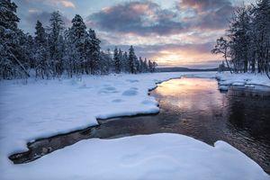 Фото бесплатно пейзаж, Финляндия, закат