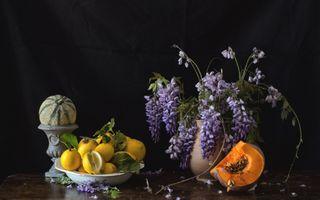 Фото бесплатно лимон, глициния, тыква