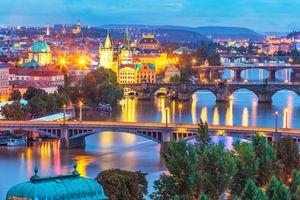 Фото бесплатно Прага, река Влтава, мосты