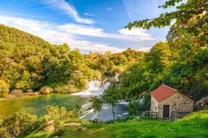 Фото бесплатно Lodge, водопад, водопады