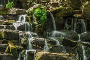 Фото бесплатно водопад, река, природа, камни