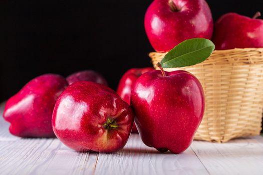 Shiny red apple · free photo