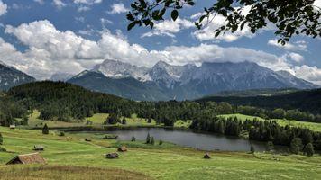 Фото бесплатно пейзаж, Партенкирхен, Бавария
