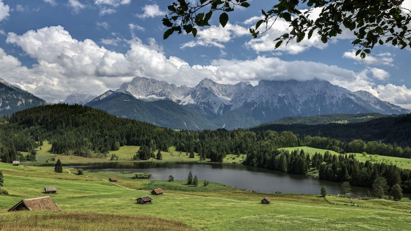 Фото бесплатно пейзаж, Партенкирхен, Бавария - на рабочий стол