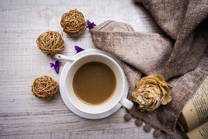 Фото бесплатно книга, кофе, декор