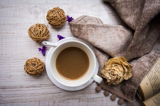 Бесплатные фото книга,кофе,декор
