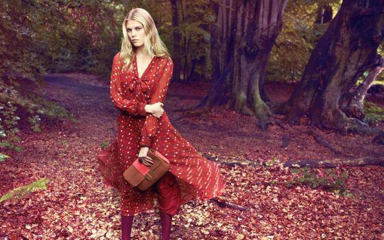 Фото бесплатно женщины, модель, красное платье