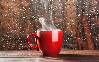 Фото бесплатно чашка, капли, стекло, дождь, дым, кухоль