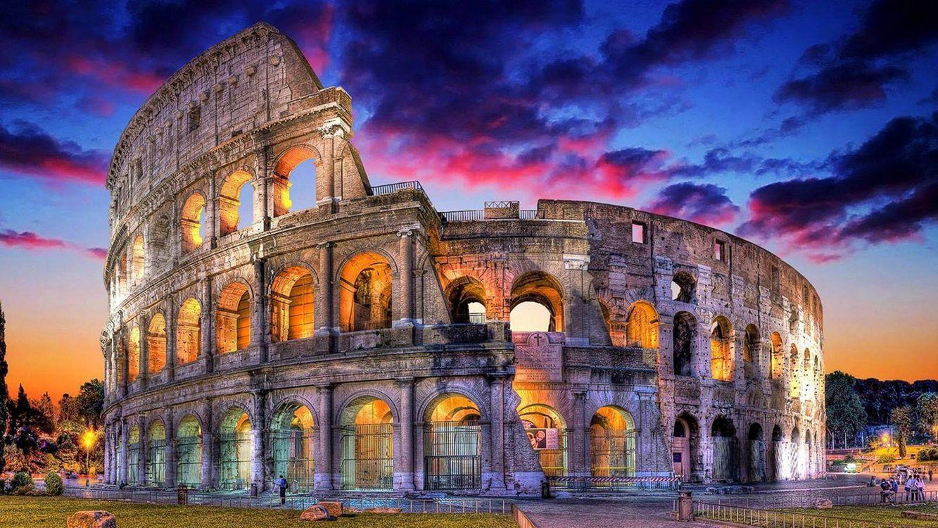 Фото бесплатно Colosseum, Rome, Italy, HDR - на рабочий стол