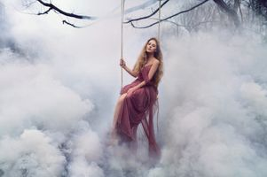 the girl on the swing · free photo