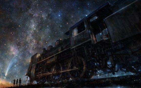 Фото бесплатно люди, поезд, семья