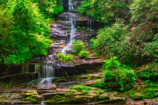Фото бесплатно North Carolina, National Forest, водопад, река, скалы, камни, деревья, природа, пейзаж