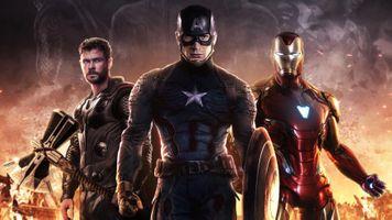 Фото бесплатно Avengers Endgame, Iron Man, Captain America