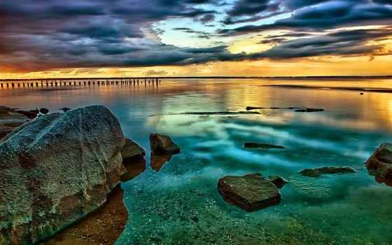 Фото бесплатно берег, мелководье, камни