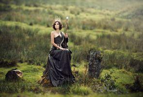 Photo free model, fantasy, black dress