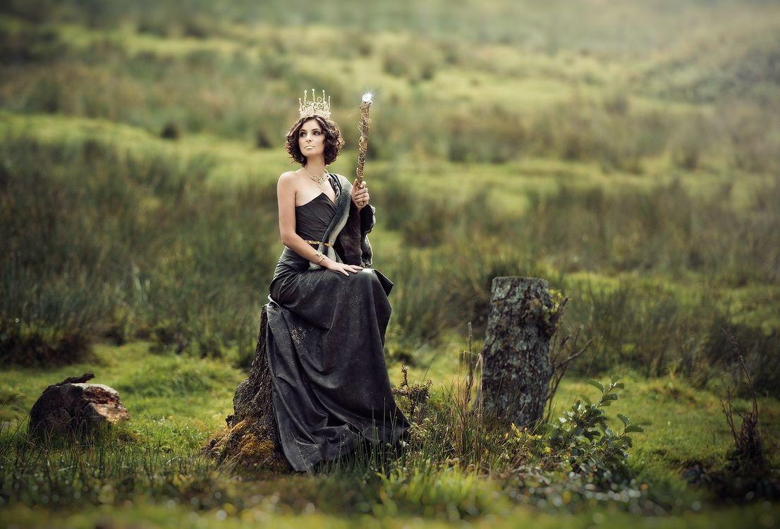 Фото бесплатно модель, фантазия, черное платье - на рабочий стол