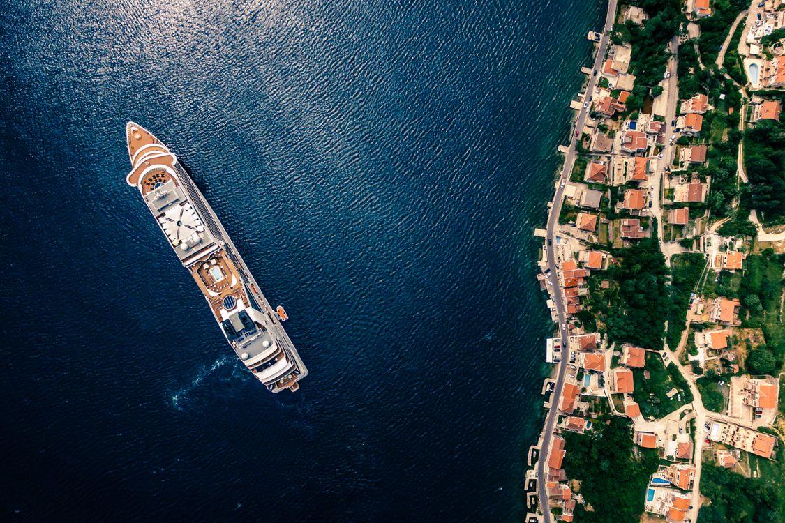 Фото бесплатно с высоты птичьего полета, вода, море, лодка, montenegro, kotor, корабли