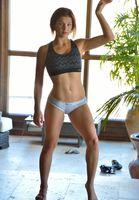 Бесплатные фото Jessica Robbin,рука к верху,гимнастика,нижнее белье,фигура,сексуальная,девушка