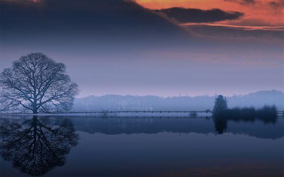 Заставки облака, корона, озеро