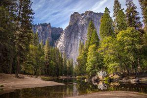Фото бесплатно скалы, вода, деревья