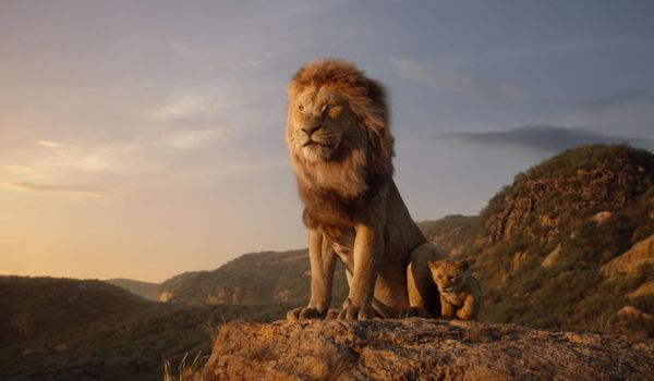 Фото бесплатно Король лев, Муфаса, маленький Симба