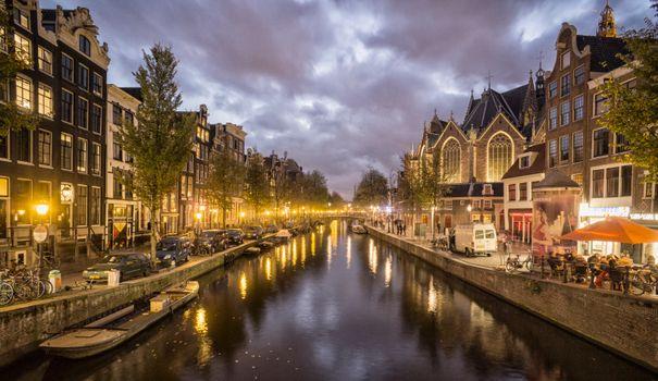 Вечерний Амстердам · бесплатное фото