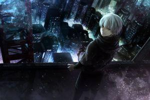 Фото бесплатно angel31424, здания, город, Гуль, графика конечно, Кен, ночь, Токио