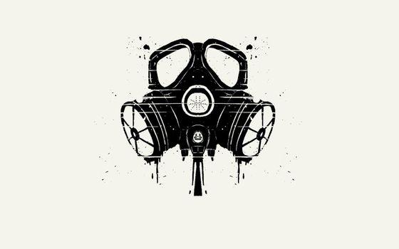 Photo free background, gas, masks