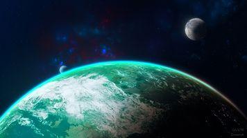 Фото бесплатно Земля, планеты, галактика