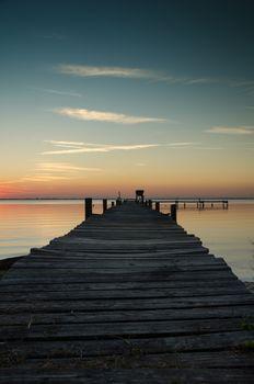 Заставки док для рыбалки, док, закат солнца