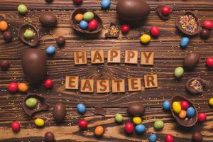 Beautiful pictures christ is risen, easter eggs