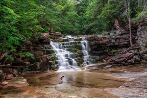 Фото бесплатно водопад, пейзаж, скалы