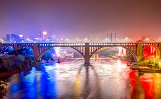 Фото бесплатно огни, ночь, США