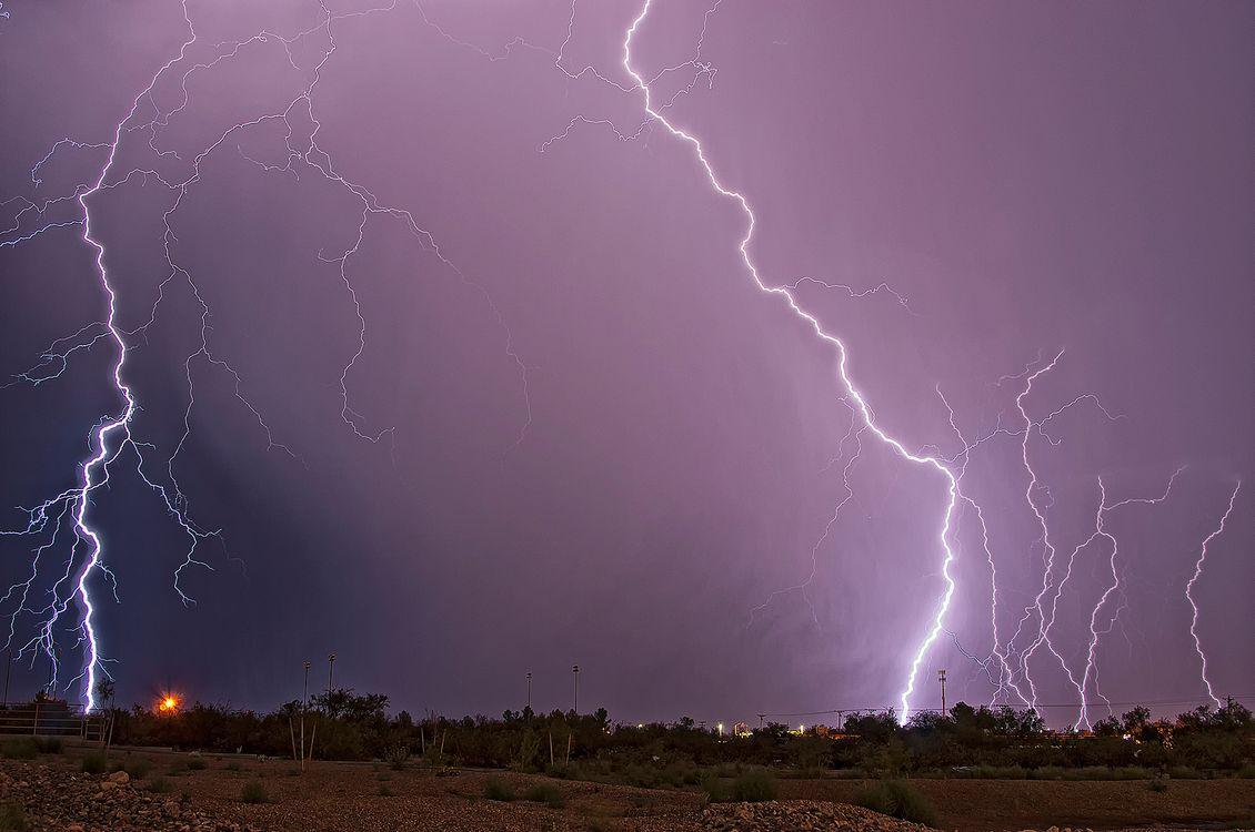 Фото бесплатно Муссонный шторм, Сьерра-Виста, Аризона, непогода, молния, гроза, буря, туча, иллюминация, пейзаж, пейзажи