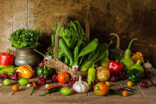 Photo free garlic, pepper, tomatoes