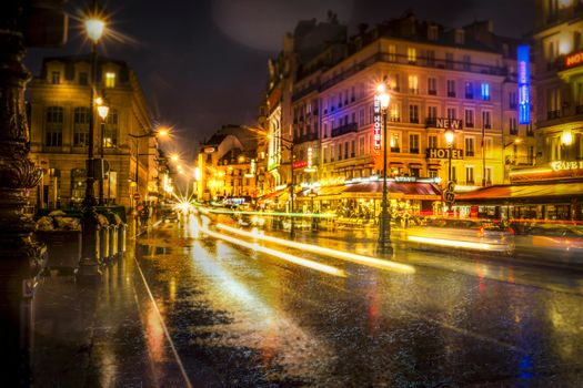 Фото бесплатно Париж, Гар дю Нор ночью, Paris, Gare du Nord at night, Франция, ночные города, иллюминация
