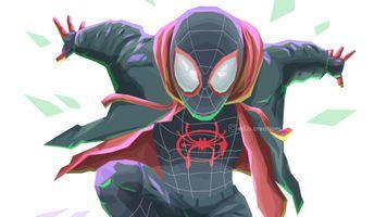 Фото бесплатно Spiderman Into The Spider Verse, Spiderman, супергерои