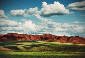 Заставки долина, солнечный день, горы