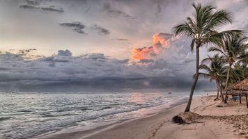 Фото бесплатно пляж, облака, остров