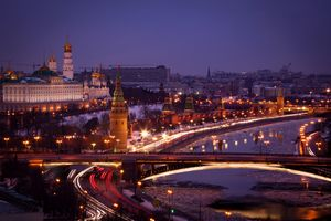 Photo free night, Kremlin, Moscow