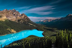 Photo free Canada, clouds, Lake Peyto