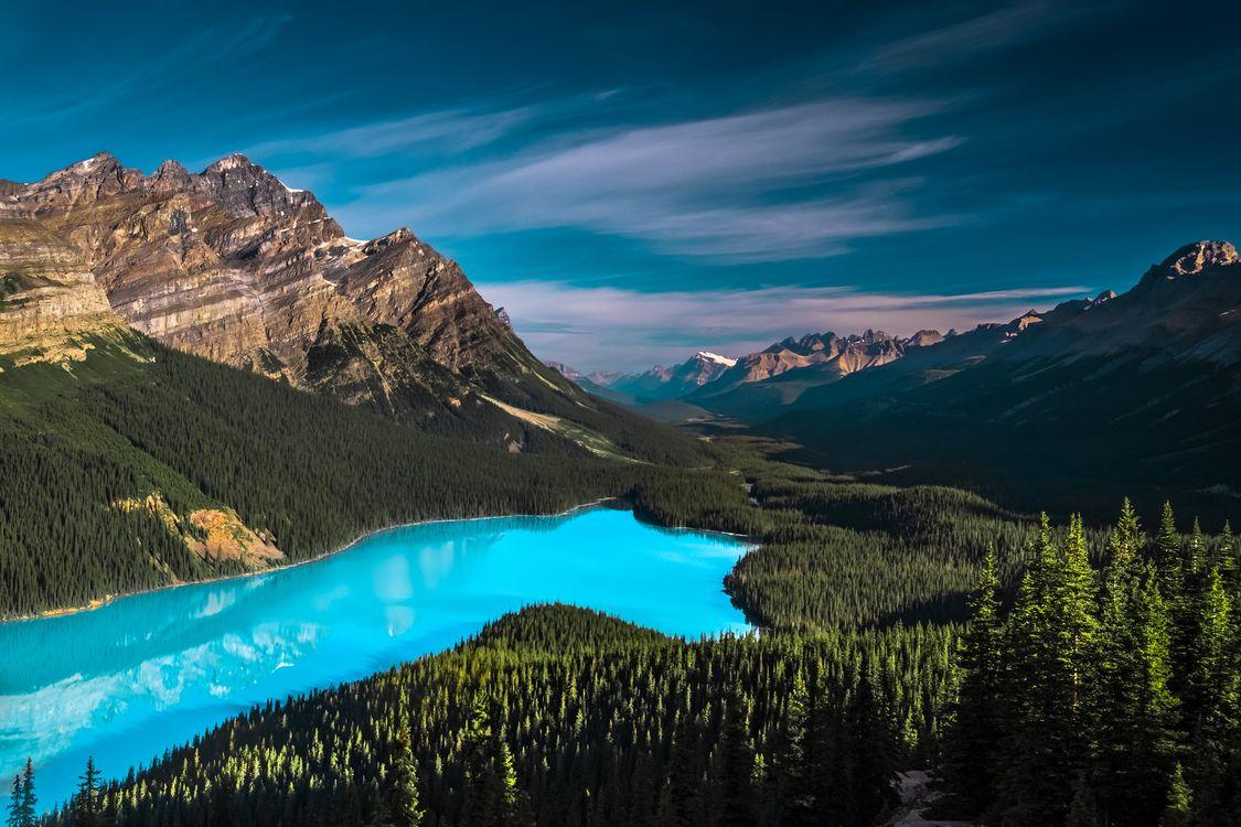 Фото бесплатно Canada, облака, Peyto Lake - на рабочий стол